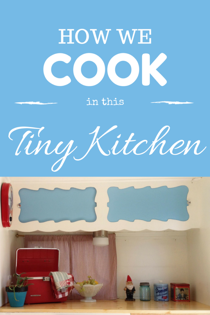 tiny kitchen cooking