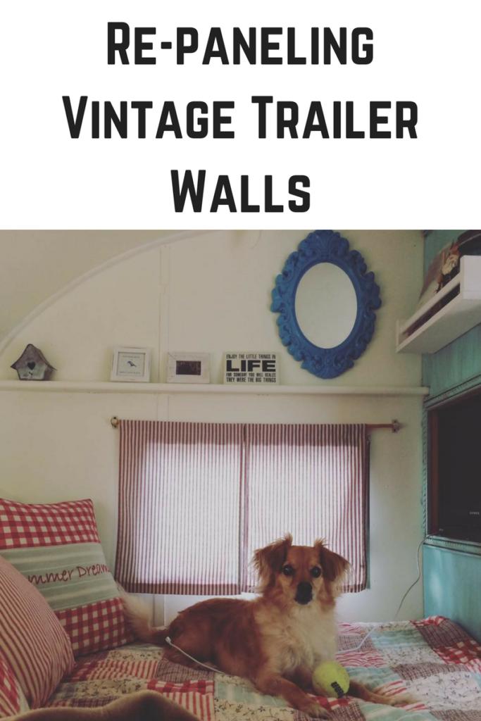 Re-paneling Vintage Trailer Walls