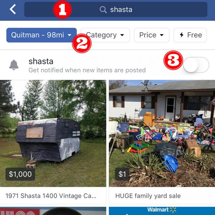 Facebook Marketplace Notifications