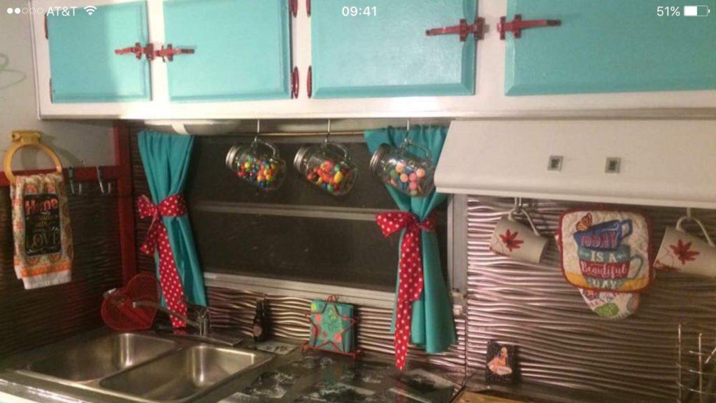 vintage trailer kitchen